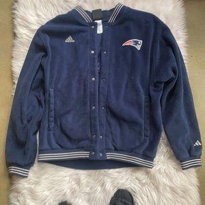 Adidas New England Patriots ButtonDWNFleece jacket